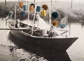boot met lampionnen